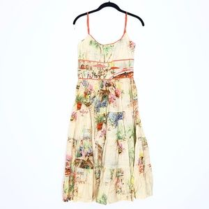 Anthropologie Lazybones Marilyn Tiered Dress Small